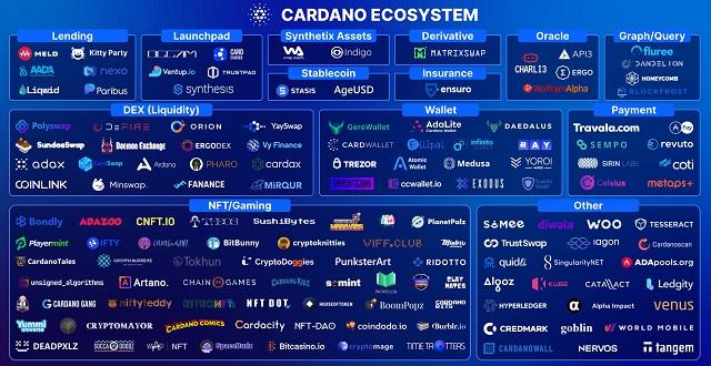 Hệ sinh thái của Cardano hiện tại vô cùng đa dạng
